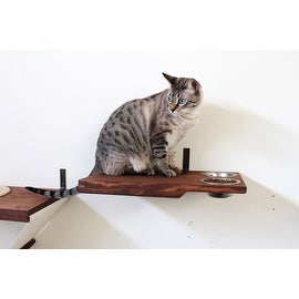 Cat Dining Table - Handcrafted wall-mounted Feeder Shelf