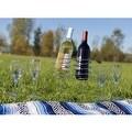 Sunnydaze Stainless Steel Wine Bottle and Stemware Holder Set, Picnic Height - Thumbnail 4