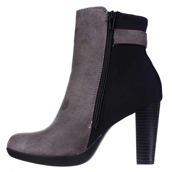 Alfani Womens Velvett Leather Almond Toe Ankle Fashion Boots