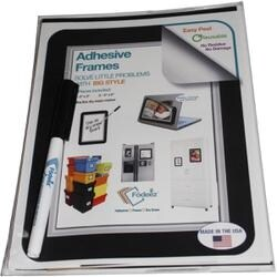 Bvld Silvr-Adhesive Frames 6/Pk