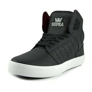 Supra Atom Men Round Toe Leather Gray Sneakers