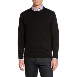 Peter Millar NEW Men's Black Size Medium M Crewneck Silk Sweater