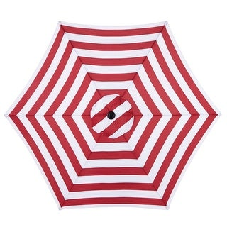 Living Accents UM90BKOBD03/WT Market Patio Umbrella, Red, 9'