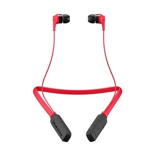 Skullcandy Ink'd Bluetooth Wireless Lightweight Earbuds with Mic, Red/Black
