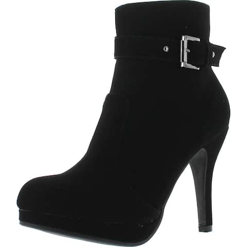 Top Moda George-15 Women's Strap Buckle Stiletto Heel Ankle Booties