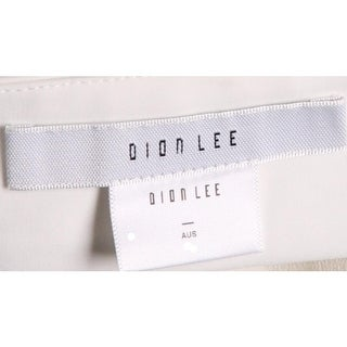Dion Lee Womens Halter Top Georgette Hi-Low - 2