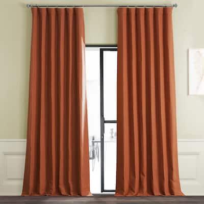 Exclusive Fabrics Persimmon Bellino Room Darkening Curtain (1 Panel)