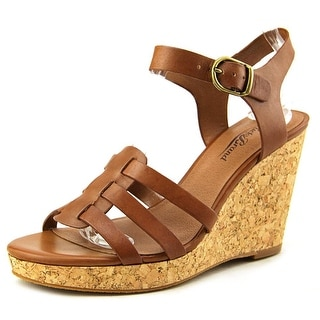 Lucky Brand Willows Open Toe Leather Wedge Heel