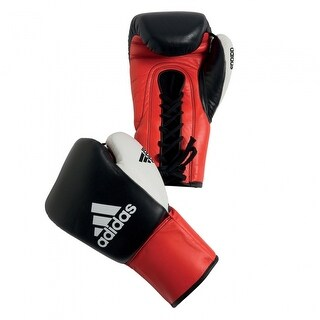 Adidas Dynamic Pro Competition Boxing Gloves - Black/Red/White