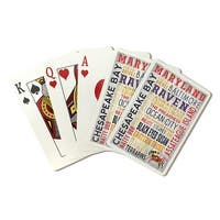 Maryland - Rustic Typography - LP Artwork (Poker Playing Cards Deck)