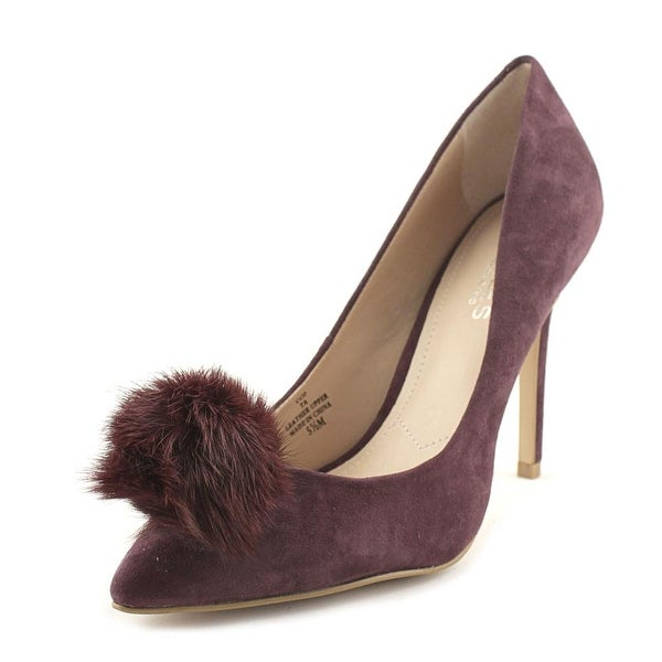 Charles By Charles David Pixie Women Pointed Toe Suede Heels