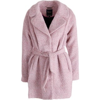 Juicy Couture Black Label Womens Brushed Wool Snap Front Coat - S