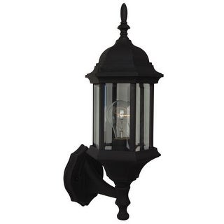 """Craftmade Z290 Hex Style Cast Single Light 17-3/4"""" High Outdoor Wall Sconce with Clear Seeded Glass"""