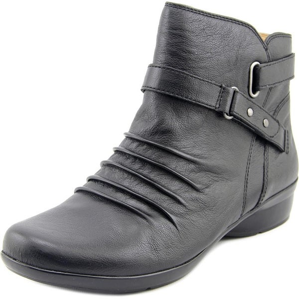 Naturalizer Cassini Women Round Toe Leather Black Bootie