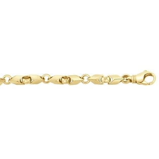 Men's 10K Gold 8.5 inch Fancy Link Chain Bracelet