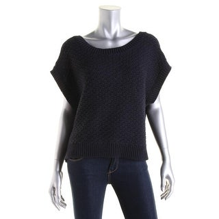 Rag & Bone Womens Open Stitch Crop Pullover Sweater