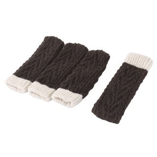 Apartment Hotel Polyester Stretchy Chair Desk Leg Feet Sock Protector Cover 4pcs