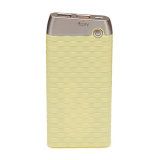 TechComm X10 10,000mAh Ultra Thin Fashionable Charger/Power Bank with QC 3.0 (Option: Yellow - USB)