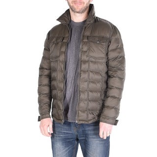 Men's Quilted Packable Coat - Olive