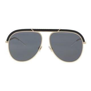 Christian Dior DIORDESERTIC 02M2/2K Black Gold Aviator Sunglasses - 58-14-145
