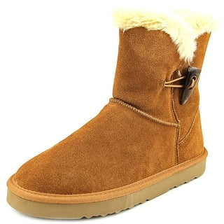 Style & Co Tiny Women Round Toe Suede Tan Winter Boot