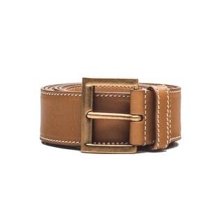 Prada Vintage Women's Calf Leather Belt Tan - 95