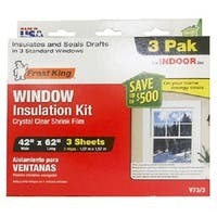 """Frost King V73/3H Window Insulation Kit, 42"""" x 62"""", 3-Pack"""