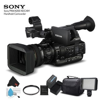 Sony PXW-X200 XDCAM Handheld Camcorder (PXW-X200) With Extra Battery, LED Light, Case and More