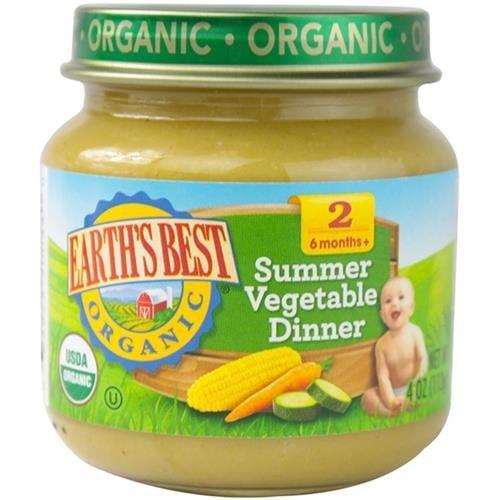 Earth's Best - Organic Summer Vegetable Dinner ( 12 - 4 OZ)