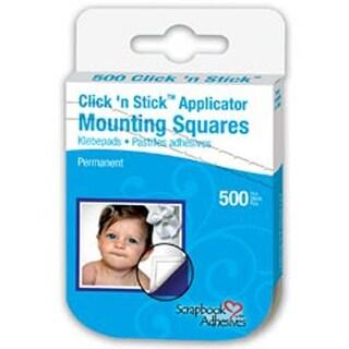 "Perm White; .5""X.5"" - Scrapbook Adhesives Click 'N Stick Mounting Squares 500/Pk"