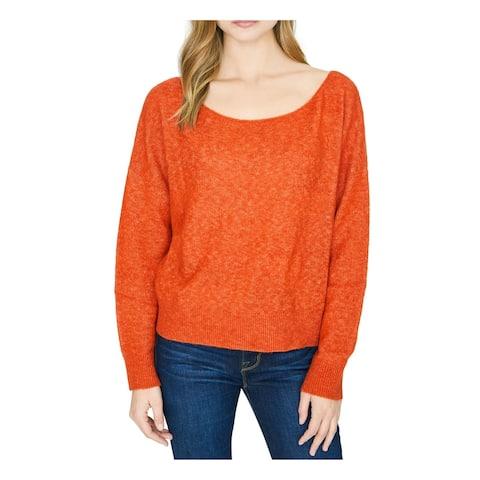 SANCTUARY Womens Orange Soft Long Sleeve Scoop Neck Sweater Size XL