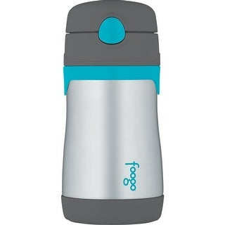 Thermos Foogo 10 Oz. Vacuum Insulated Straw Bottle (Charcoal/Teal)