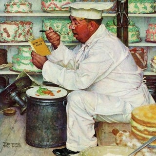 Marmont Hill How to Diet Norman Rockwell Painting Print on Canvas