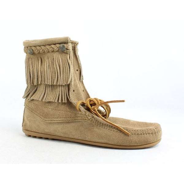 c1c330a4438 Shop Minnetonka Womens Ankle Hi Tramper Taupe Ankle Boots Size 10 - On Sale  - Free Shipping On Orders Over  45 - Overstock - 24227722