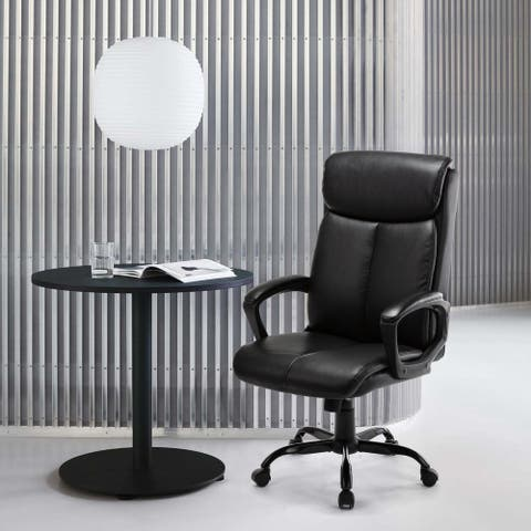 STARSPACE Bonded Leather High Back Executive Office Chair