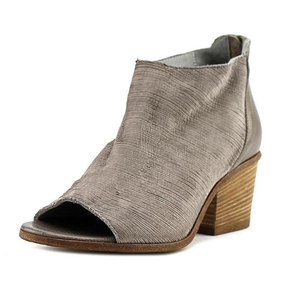 VC Signature Ashley Women Peep-Toe Leather Gray Bootie