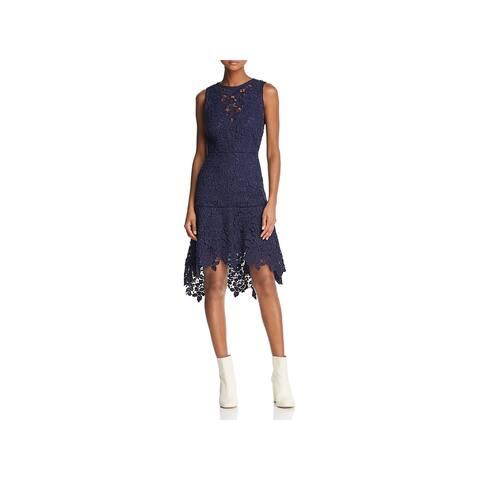 Joie Womens Bridley Midi Dress Lace Hi-Low