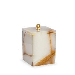 Link to Marble Bath Canister with Lid in Green Onyx Similar Items in Bathroom Accessory Sets