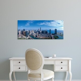 Easy Art Prints Panoramic Images's 'Panoramic view of Chicago skyline' Premium Canvas Art