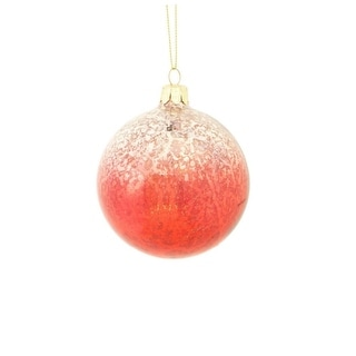 """3.5"""" Crimson Red and Silver Ombre Mercury Glass Christmas Ball Ornament"""