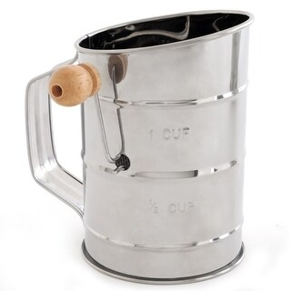 Norpro 136 Crank Tin Sifter, 3 Cup