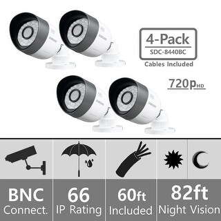 Lot of 4 Samsung SDC-8440BC Weatherproof 720p High Definition Camera (AHD Only)
