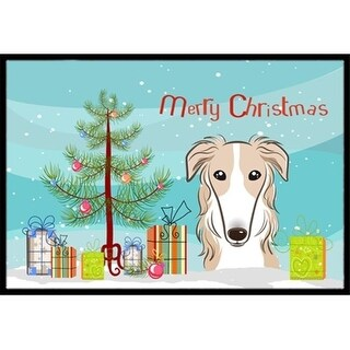 Carolines Treasures BB1600JMAT Christmas Tree & Borzoi Indoor or Outdoor Mat 24 x 36