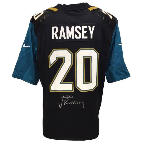 official photos f1266 226db Shop Jalen Ramsey Signed Jacksonville Jaguars Black Nike ...