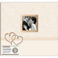 "Wedding Hearts - K&Company Patterned Post Bound Window Album 12""X12"""