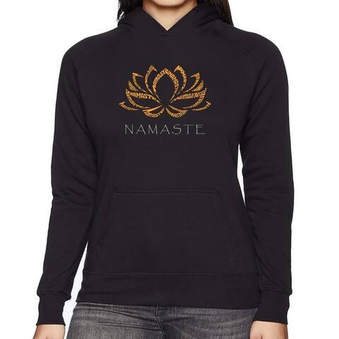 Women's Word Art Hooded Sweatshirt -Namaste