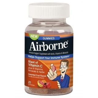 Airborne Vitamin C Immune Support Supplement, Gummies, 21 Count