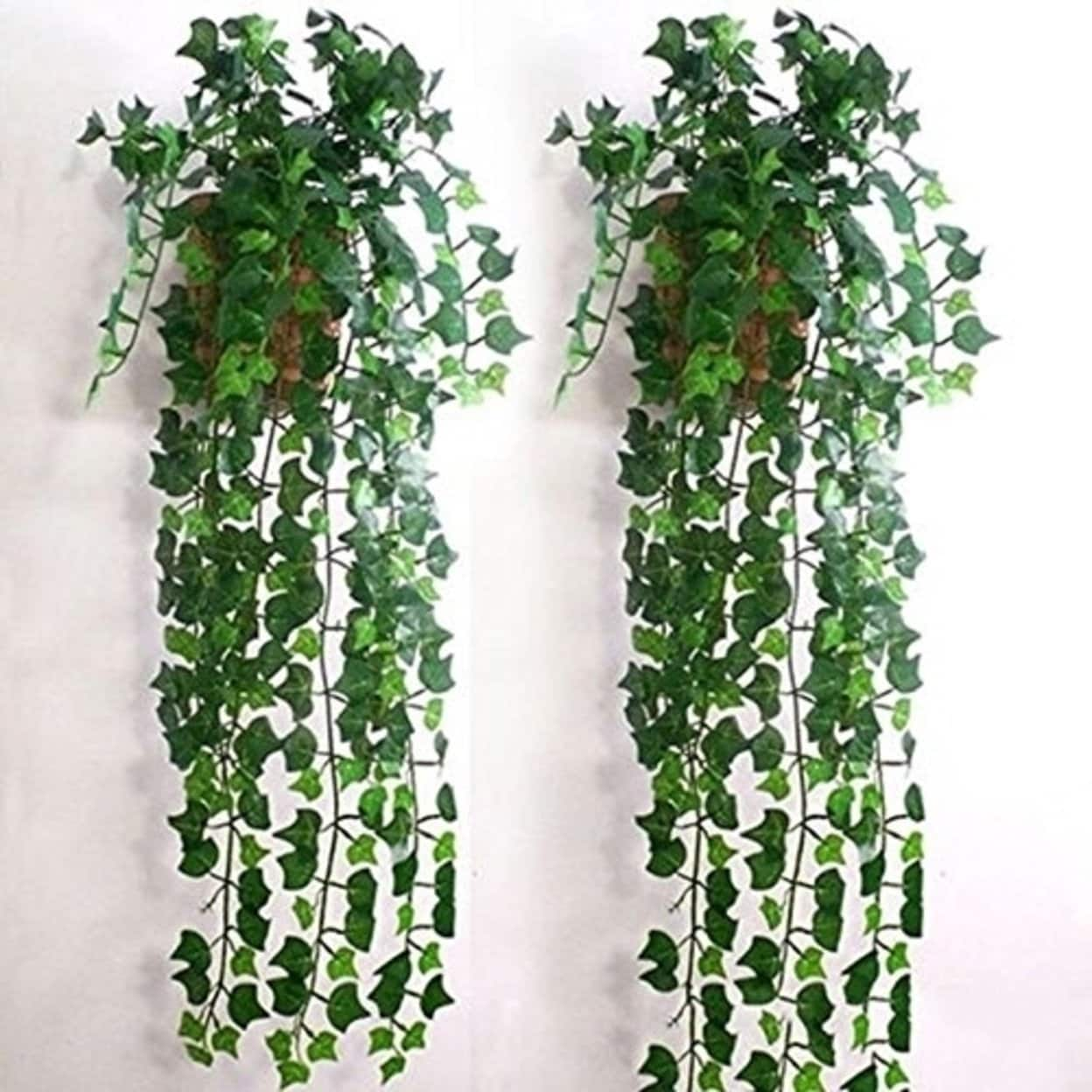 Artificial Ivy Leaf Garland Plants Vine Fake Foliage Flowers Home Decor Plastic Artificial Flower Overstock 27727860