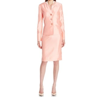 Le Suit NEW Pink Papaya Women's Size 18 Shantung Skirt Suit Set