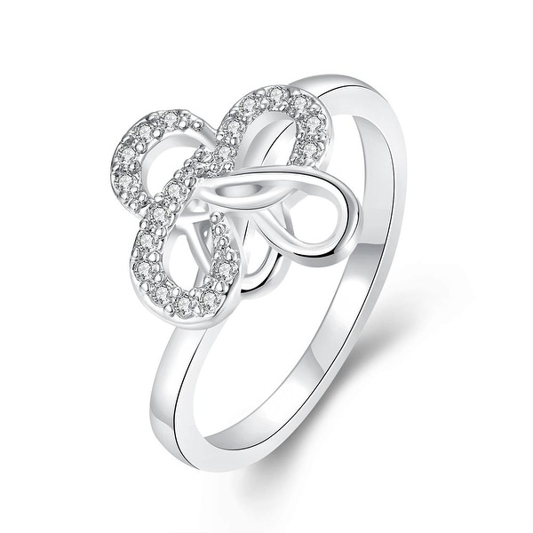 Twisted Design White Gold Ring